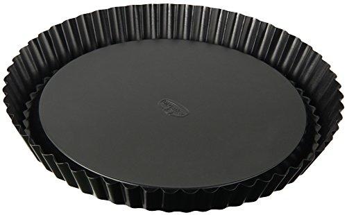 Dr. Oetker Obstkuchenform Ø 28 cm, klassische Backform für köstlichen Tortenboden, Quicheform aus Stahl mit Antihaftbeschichtung, Menge: 1 Stück