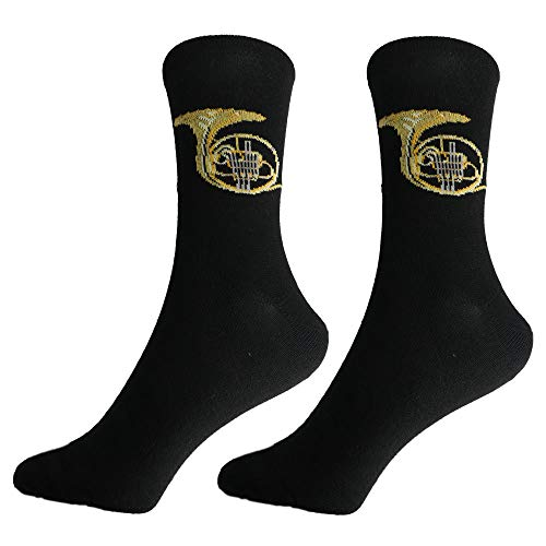 mugesh Musik-Socken Horn (39/42) - Schönes Geschenk für Musiker