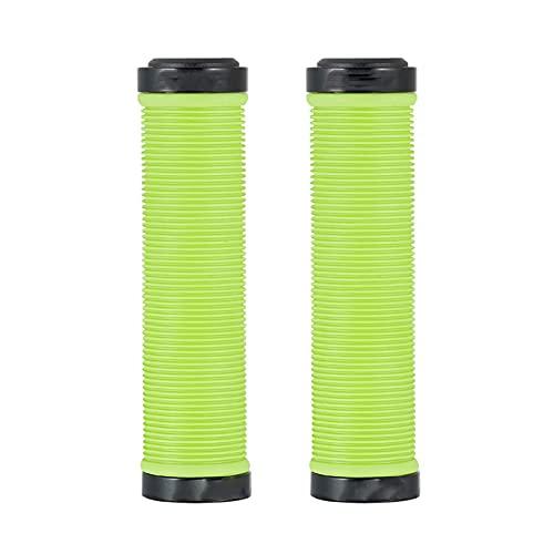 SQATDSBIKE Grip de montaña, 22.2mm MTB Cerradura en agarres de Bicicletas, Agarre del Manillar de Bicicletas, Negro/Azul/Verde/Rojo/Amarillo, 1 par (Color : Verde, Talla : Line)