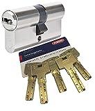 ABUS Bravus.2000 Sicherheits - Doppelzylinder mit 5 Schlüssel, Länge 35/40mm mit Sicherungskarte und höchstem Kopierschutz, Zusatzausstattung: Not- u. Gefahrenfunktion