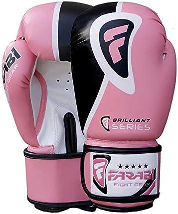 Farabi Sports Boxing Gloves Boxing Gloves for Training Punching Sparring Muay Thai Kickboxing Gloves (Pink, 16-oz)