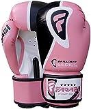 Farabi Boxing Gloves Training Sparring Punching Bag Focus Pads Training Gloves Pair 8-oz 10-oz 12-oz 14-oz 16oz (Pink, 10-oz)