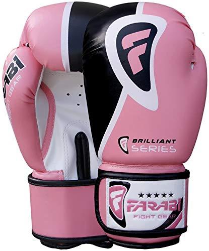 Farabi Pro Fighter - Guantes de Boxeo para Saco de Boxeo (Rosa, 8 oz)