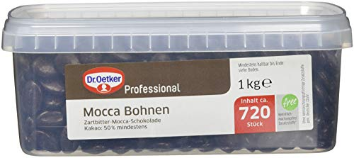 Dr. Oetker Professional Mocca-Bohnen, 1,7% Kaffeepulver, 1 kg Dose