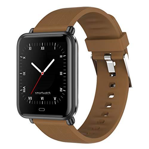 APCHY Smart Watch para Mujeres,Monitores de Actividad con Monitor De Ritmo Cardíaco,Reloj De Contador De Pasos De Podómetro con Saturación De Oxígeno De Sangre, 5Atm Impermeable,E