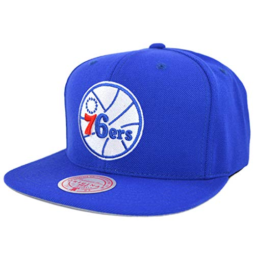 Mitchell & Ness Philadelphia 76ers - Gorra de lana, color azul