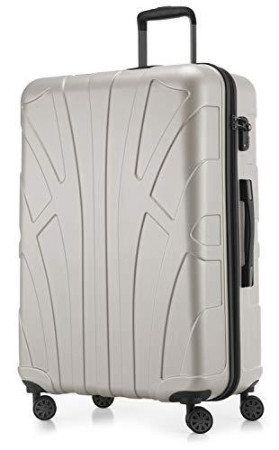 Suitline - Maleta rígida, Equipaje de Viaje, TSA, 76 cm, Aprox. 96 litros, 100% ABS Mate, Blanco Mate
