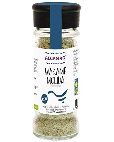 Alga Wakame molida, en tarro de vidrio especiero 70 g BIO