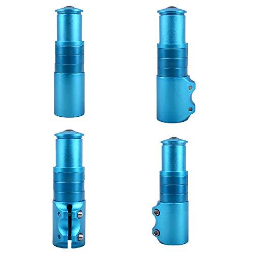 TRIWONDER MTB Fahrrad Gabelschaft Extender, Höhen-Adapter, Ahead Vorbau verstellbar, Aluminium Fahrradlenker Erhöhung (Blau) - 5