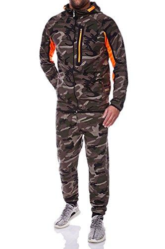 MT Styles Trainingsanzug mit Zipper Sportanzug R-886 [Khaki, M]