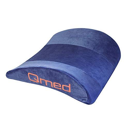 Qmed Lumbar Pillow - Cojín lumbar de 40 x 33 x 12 cm de espuma viscoelástica (55 kg/m3) | Cojín lumbar de apoyo para aliviar la tensión de la columna vertebra