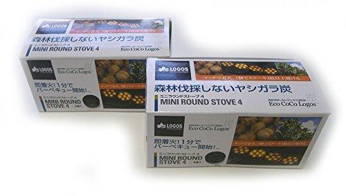 LOGOS(ロゴス)エコココロゴス・ミニラウンドストーブ4P(練炭4個入)×2箱入 R14AH025