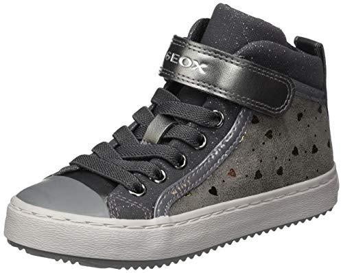 Geox J Kalispera Girl I Sneaker, (Dk Grey), 35 EU