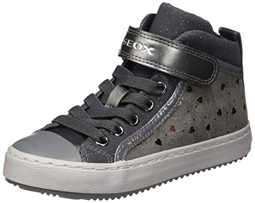 Geox J Kalispera Girl I, Sneaker, (Dk Grey), 28 EU