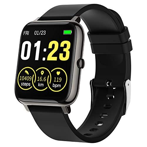 LIEBIG Smartwatch Damen,Armband mit Schrittzähler Fitness Tracker IP67 Wasserdicht Sportuhr Smart Watch mit Pulsuhr Schlafmonitor Stoppuhr GPS Armbanduhr Damen Herren für Android iOS