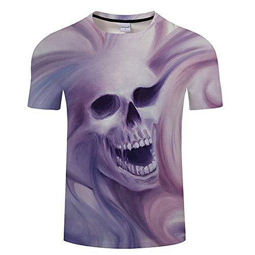 T Shirt Paint Skull 3D Print T Shirt Men Women Tshirt Summer Funny Short Sleeve O-Neck Tops&Tees Loose Asian4Xl Tx376