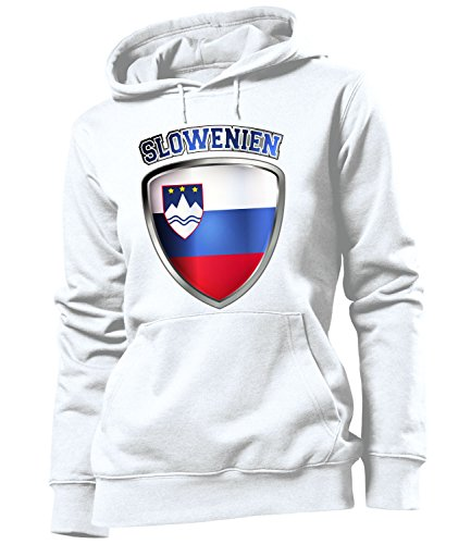 Golebros Slowenien Slovenia Slovenija Fussball Fußball Trikot Look Jersey fanhoodie Damen Frauen Hoodie Pulli Sweatshirt Kapuzen Pullover Fan Fanartikel Outfit Bekleidung Oberteil Artikel