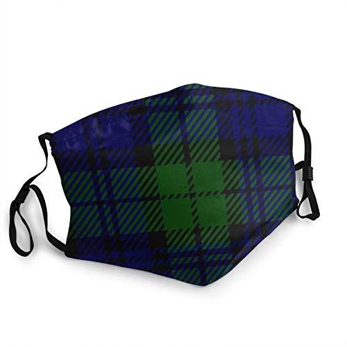 Reloj negro a cuadros escoceses reutilizable M-Ask Pasamontañas lavable al aire libre nariz cubierta de la boca de moda para unisex hombres y mujeres