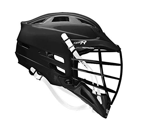 Cascade CPX-R Lacrosse Helmet with Black Face mask (Choose Your Shell Color)-Black