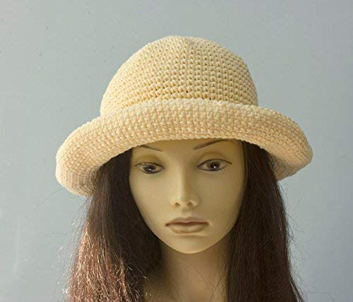 Cotton Sun Hat Year-end gift with Hand Wide Crocheted Brim Max 43% OFF