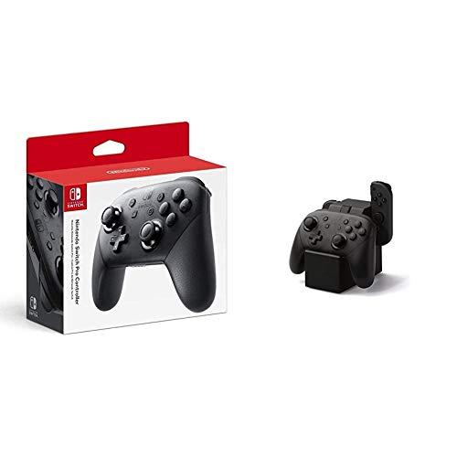 Nintendo Switch Pro Controller & PowerA Joy-Con- and Pro-Controller-Ladestation für Nintendo Switch