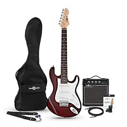 Set de Guitarra Eléctrica 3/4 LA + Amplificador Wine Red