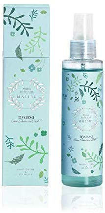 Glamorous Hub Nyassa Malibu Body Mist 150 ml with Frosted Fern & Sea Water. Natural product to dleight your senses. No Parabens PthalatesSulphatesSilicons Petroleum.Cruelty free.