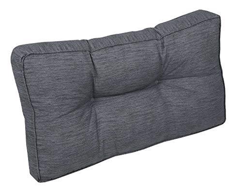 Möbel Jack Gartenkissen Loungekissen Rückenkissen Sitzkissen Palettenkissen | Baumwolle | Polyester | Anthrazit | 73 x 40 x 10 cm
