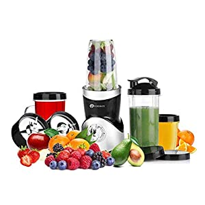 PureMate 380W Nutrition Smoothie Maker | Juicer and Food Processor Fitness Blender Machine | Power Grinder with Stainless Steel Blades