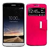Mb Accesorios Funda Tapa Libro Rosa para LG Ray - Interior. Silicona