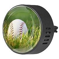 エッセンシャル オイル ベント クリップ用カー ディフューザー、草の野球 ,2 パック 40mm アロマセラピー芳香剤