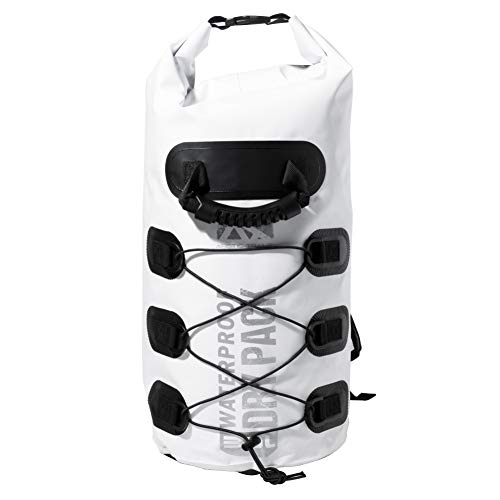 ARCTIC TRAILS Waterproof Dry Bag Backpack with Bungee Straps - Kayak - Camping- Hiking- Boating- Beach- Fishing- Floating - Sea- Ocean 20L/30L - Heavy Duty - Light Weight