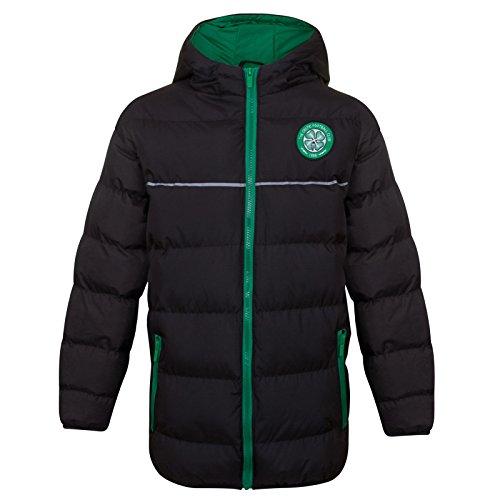 Celtic FC - Plumífero acolchado oficial con capucha - Para niño - 12-13 años