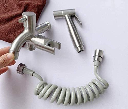Bidet Faucets Bidet Sprayter Set Tool Herramienta Pulverizador de bidé Personal Hygiene Multifuncional - 304 Bidé de acero inoxidable Bidé Conjunto de ducha Cabeza Lavado Ducha Baño Bañera de baño Sup