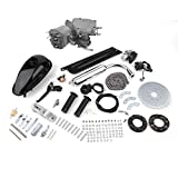 Uniqueheart 50cc 2 Stroke Cycle Motor Kit Assembly Set Gas Bicycle Sets For Motorized Bicycle Silver & Black Conversion Kit