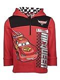 Disney Cars Lightning McQueen Toddler Boys Fleece Half Zip Pullover Hoodie 4T Red