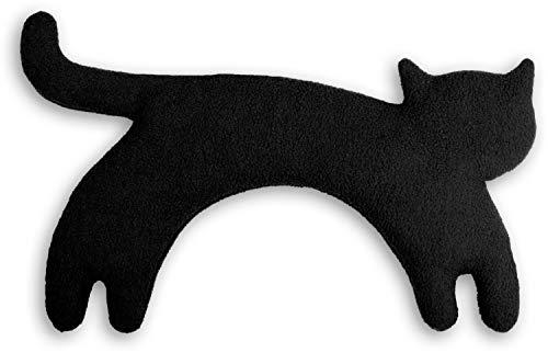 SACO TÉRMICO Leschi de semillas para microondas/para la tensión cervical/Animal: Gata Minina, de pie, negro