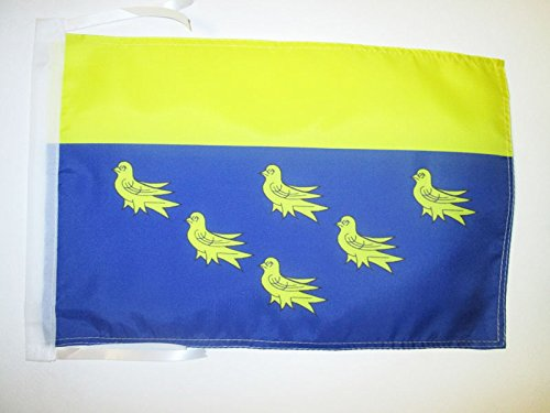 AZ FLAG Flagge GRAFSCHAFT West Sussex 45x30cm mit Kordel - West Sussex Fahne 30 x 45 cm - flaggen Top Qualität