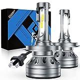 Fahren H4/9003/HB2 LED Bulb, 300% Super Bright LED Conversion Kit 6500K Cool White IP68 Waterproof, Pack of 2