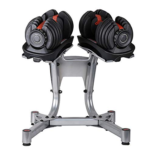 YPC Adjustable Dumbbells with Stand Set,Workout Exercise Barbell Gym Equipment Barbell for Men and Women Home Fitness Weight Set Gym Workout Exercise Training(90Lbs A Pair with Stand)
