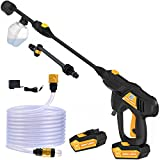 BERGWERK Cordless Power Cleaner, Portable Power Washer, 2x40V Batteries Power Cleaner, MAX 520 PSI Pressure Washer, for RVs Boats or Home Projects, with Accessories Kit and a Charger Included (Orange)