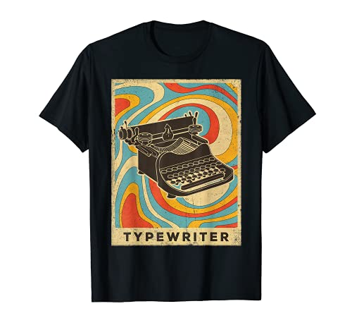 Vintage Typewriter Poster T-shirt. Many Colours for Adults and Kids
