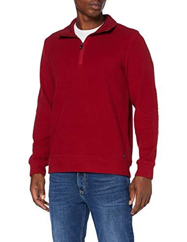 Pierre Cardin Herren Sweat-Shirt Brushed Rib Sweatshirt, red, S