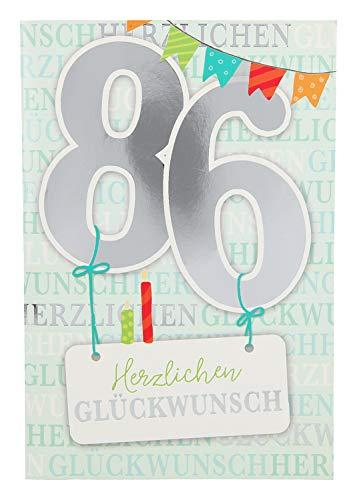 Depesche 5698.108 - Glückwunschkarte mit Musik, 86. Geburtstag