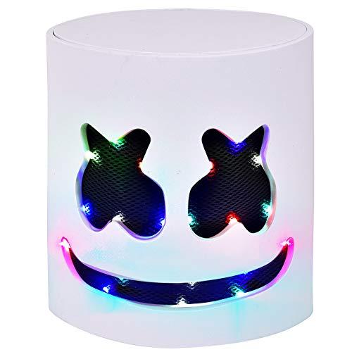 Halloween DJ Mask - Music Festival Full Head Masks Helmet for Men Women Kids Thanksgiving Christmas Halloween Glow LED Mask