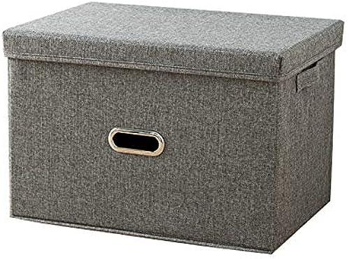 Nlj-YMS Stoff Falten Kleidung Aufbewahrungsbox Kleidung Aufbewahrungsbox Grau