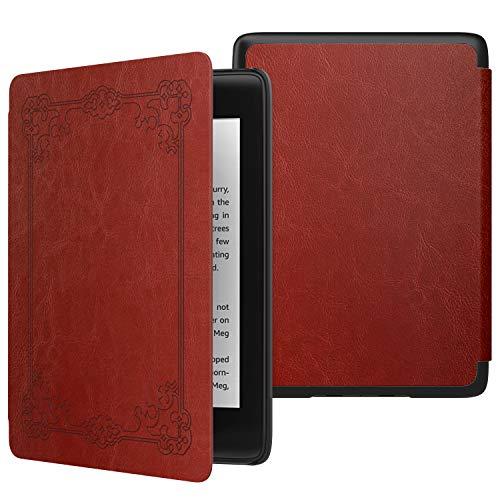 MoKo Funda para Kindle Paperwhite (10th Generation, 2018 Release), Funda de SmartShell Delgada y Ligera con Auto Sueño/Estela para Amazon Kindle Paperwhite E-Reader - Estilo Vintage
