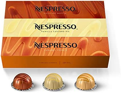 Nespresso Capsules VertuoLine Barista Flavored Pack Mild Roast Coffee 30 Count Coffee Pods Brews product image