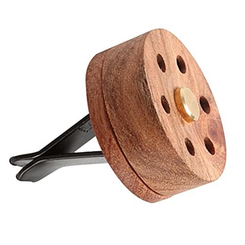PIXNOR Difusor de Ventilación de Coche Clip Caja de Madera Difusor de Aceite Esencial Ambientador de Perfume Accesorios de Coche