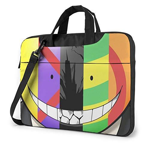 Men Vintage Laptop Shoulder Bag Briefcase, Assassination Classroom Koro-Sensei Lightweight Laptop Bag, Durable Laptop Sleeve Bag For Business School Office Work 14 In